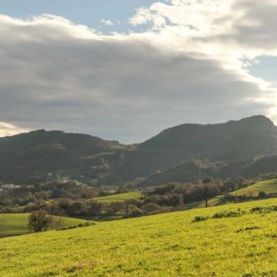Vue sur les montagnes depuis notre ferme